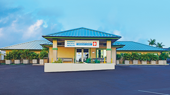 Exterior shot of Kauai Urgent Care building