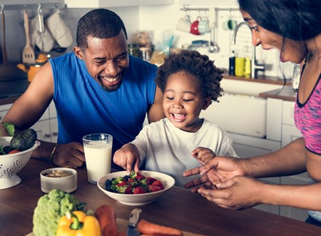 Children learn to love (or hate) foods from their parents. Lead by example and get kids excited to try something new!