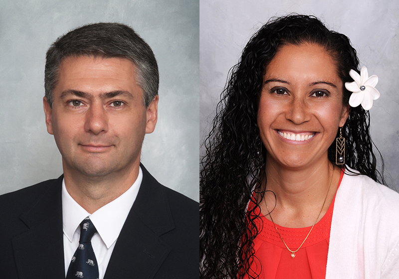 Portrait photos of Dr. Claudio Lencinas and Dr. Janee Sells