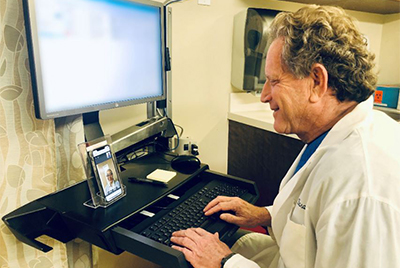 Doctor during a Video Call with patient