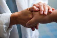 doctor shaking patient's hand