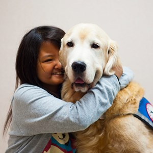 Therapeutic support comes in all shapes and sizes – and sometimes, on four legs!