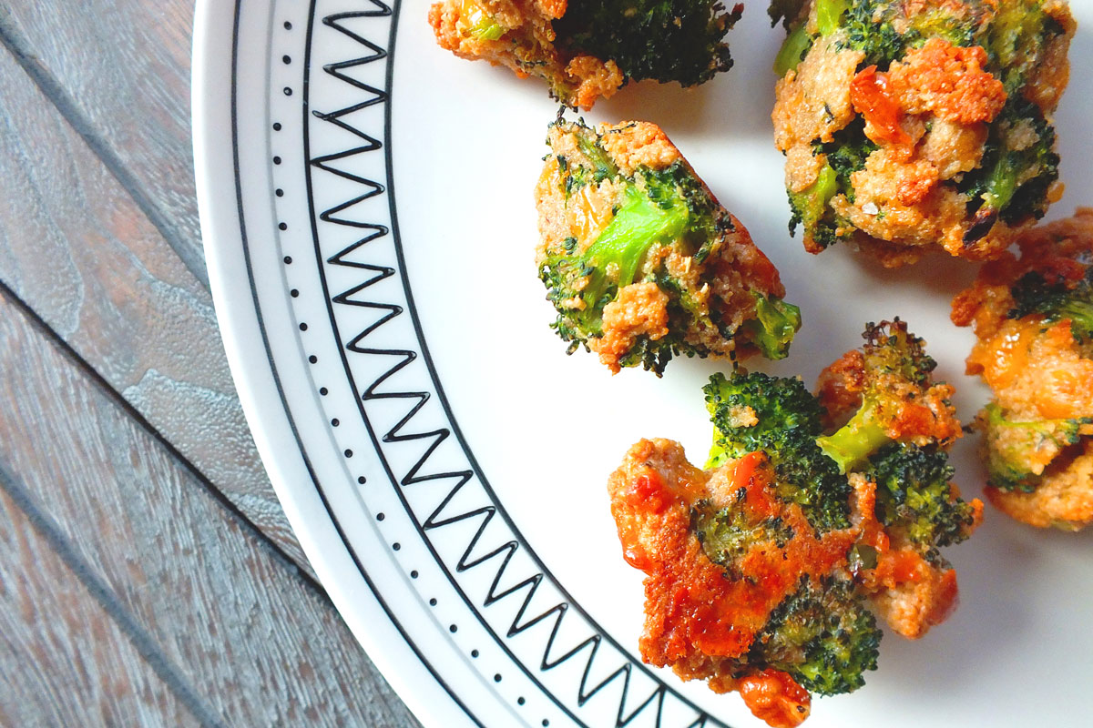 Cheesy Broc Tots in plate