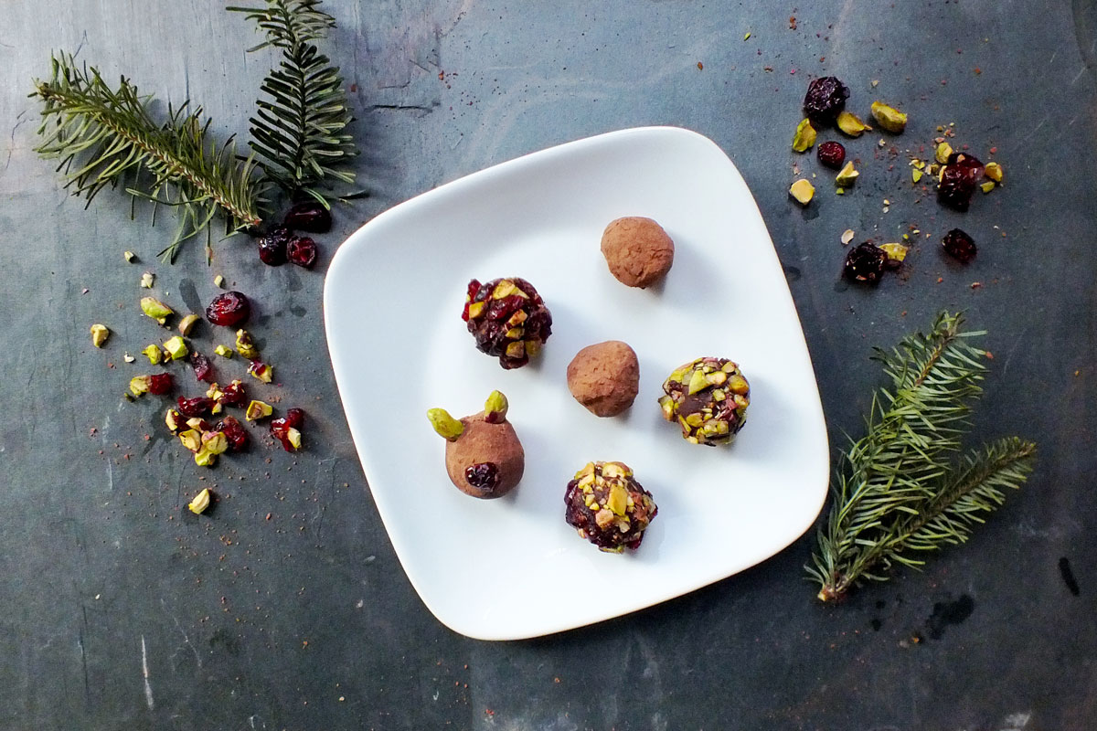 Dark Chocolate Reindeer Truffles