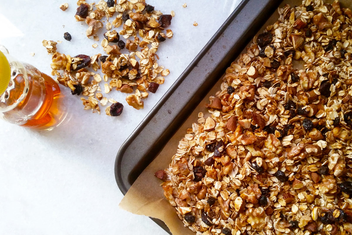 Deliciously Simple Muesli in tray