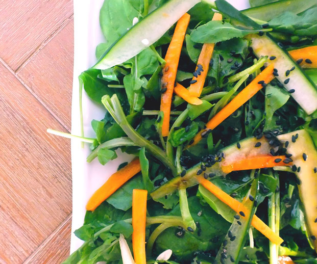 Asian Baby Greens Salad