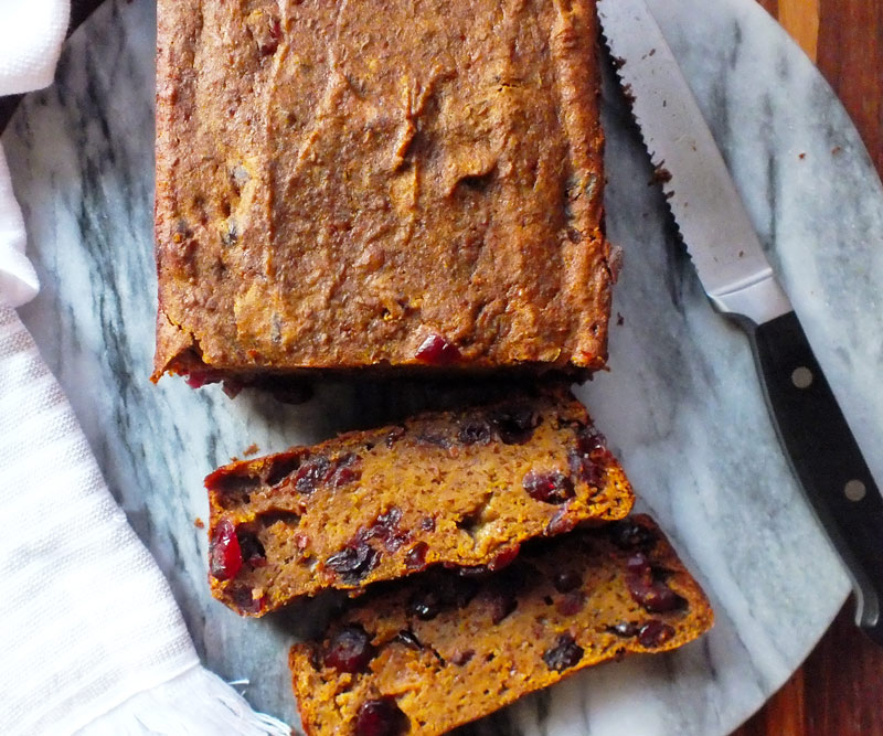 Cranberry Flax Pumpkin Bread