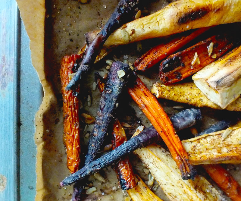 Roasted Spiced Parsnips & Carrots
