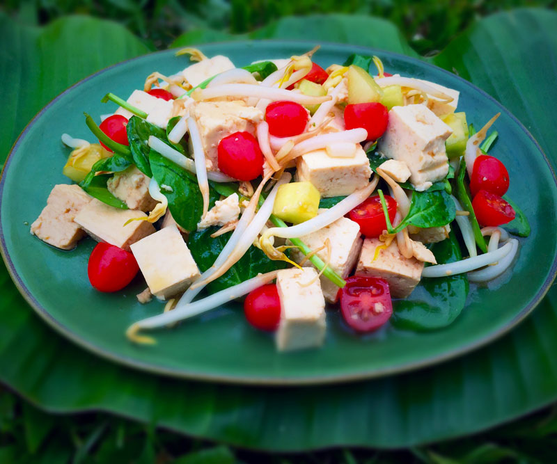 Tofu Salad in plate