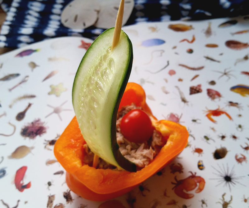 healthy cucumber bell pepper snack