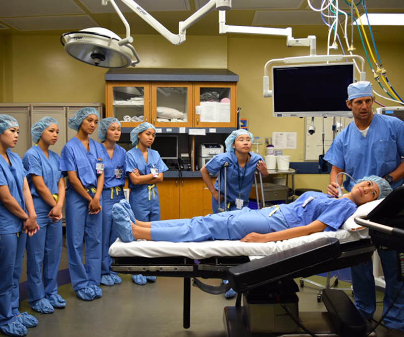 group of physicians getting trained