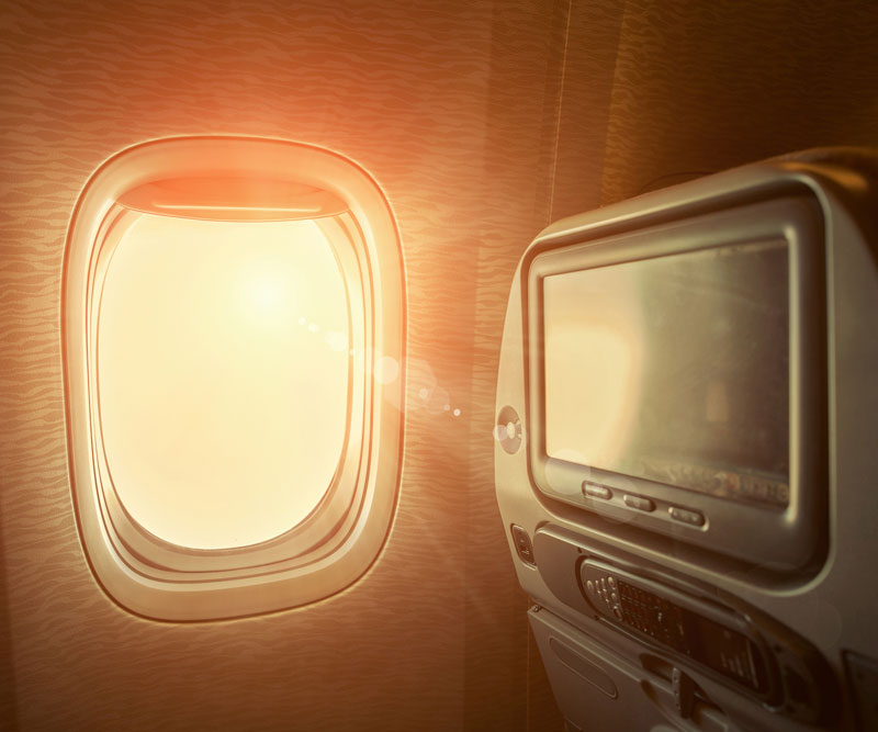 View from an airplane seat