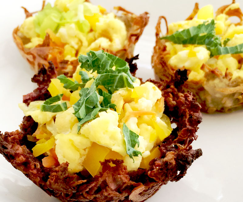 Sweet Potato Brunch Baskets