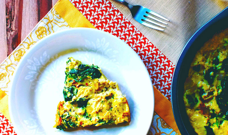 Eat Healthy: Spinach Frittata