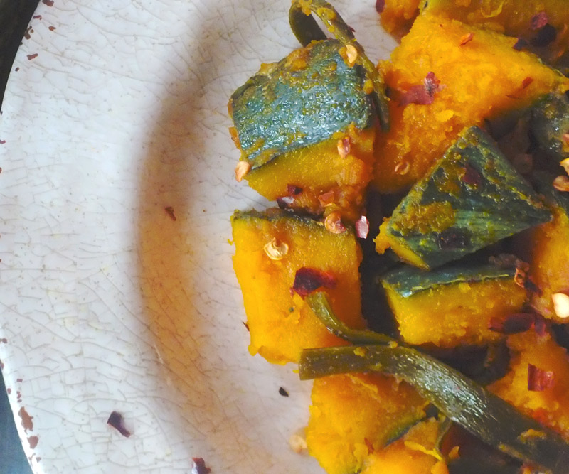 Glazed Kabocha Squash with Kombu