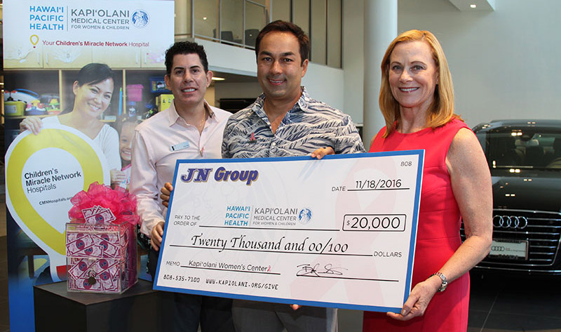 "JN Group ""Drive for the Cure"" Breast Cancer Awareness Campaign Raises $20,000 for Kapiolani"