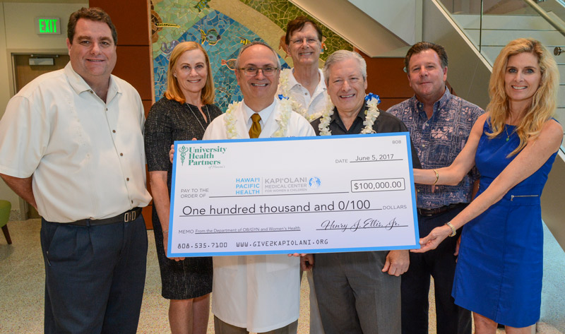 UH OB-GYN Department Donates $100K for Physician Rooms at Kapiolani Medical Center