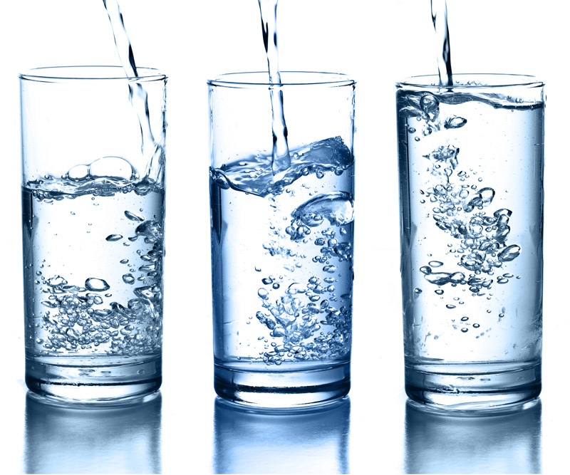 Three glasses of water at varying levels
