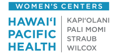Hawaii Pacific Health Women's Center footer logo
