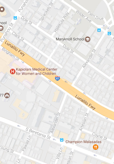 link to street map of Kapiolani Medical Center
