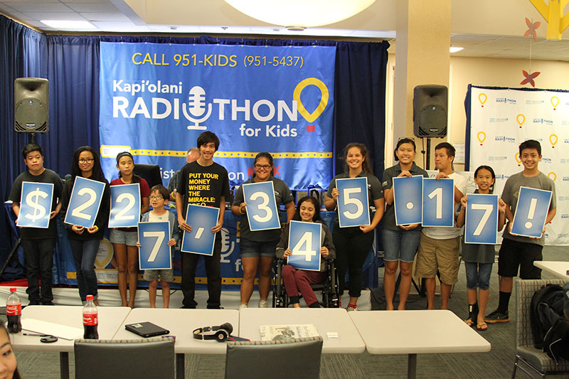 group photo from the 2017 radiothon