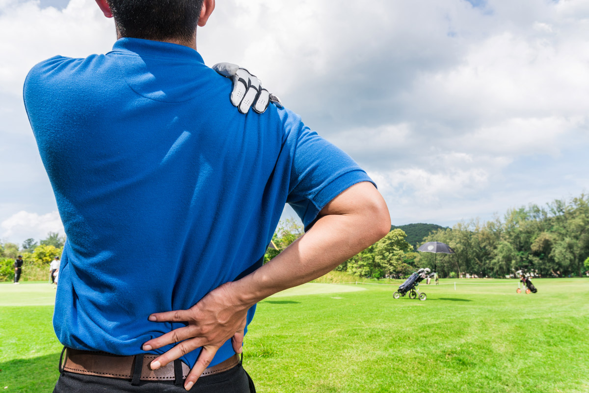 Sports that require repetitive twisting motion, like golf, can cause wear and tear to your lower back.