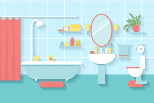 Clean up these common bathroom hazards.