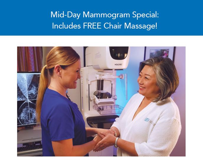 Kapiolani Women's Center presents a Mid-Day Mammogram Special