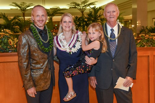 Dempsey's family joined her at the gala to celebrate her Hawaii Healthcare Hero honor.