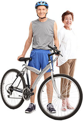 Couple and their workout bike