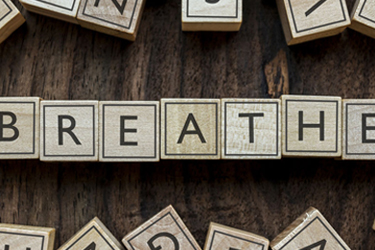 Image of the word breathe