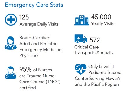 Kapiolani Emergency Department Statistics