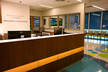Inside of the new emergency department