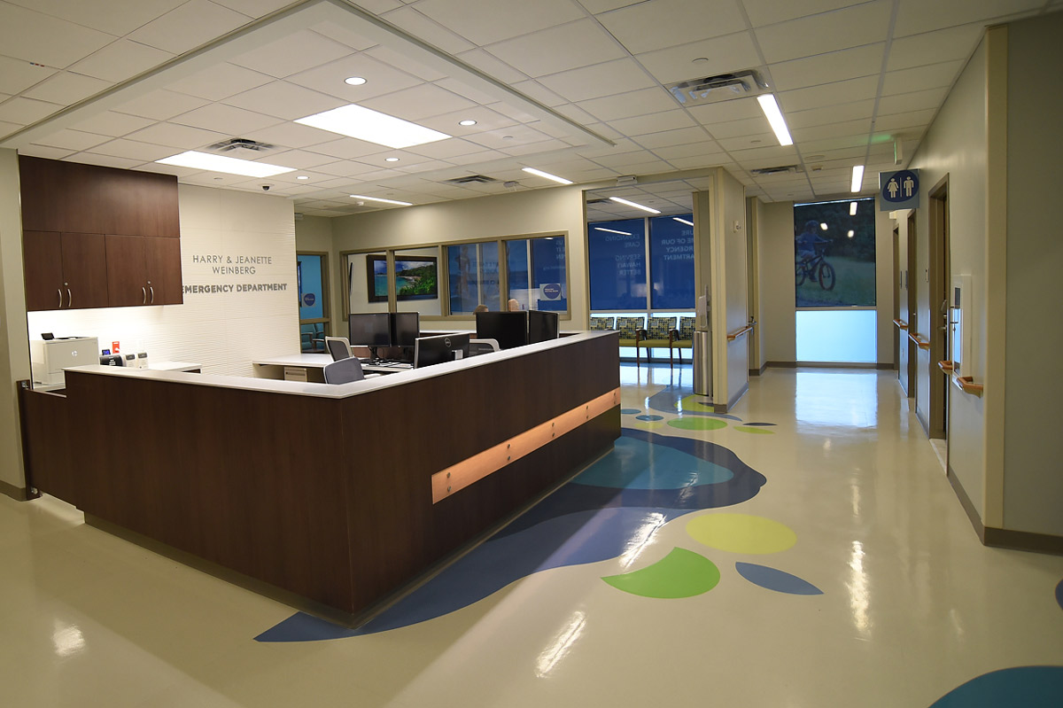 Front desk/waiting area of the new Kapiolani Emergency Department