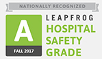 Leapfrog Hospital Safety Grade Fall 2017 Award