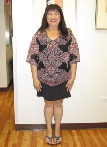 Tressy Chan before joining the Hawaii Pacific Health 360° Weight Management Center at Pali Momi.