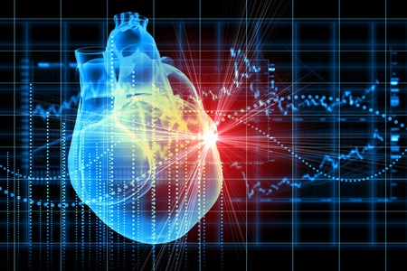 During a cardiac arrest, the heart's electrical system goes down, which stops the heart from beating.