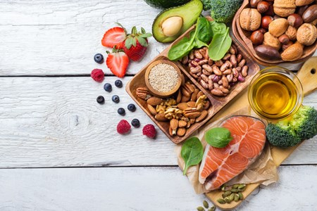 Full of fresh fruits, vegetables, whole grains, low-fat dairy products as well as fish, poultry, beans, seeds and nuts, the DASH Diet has been shown to slow the progression of kidney stones.