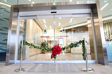 The entry to the Hawaii Pacific Health Cancer Center at Pali Momi Medical Center.
