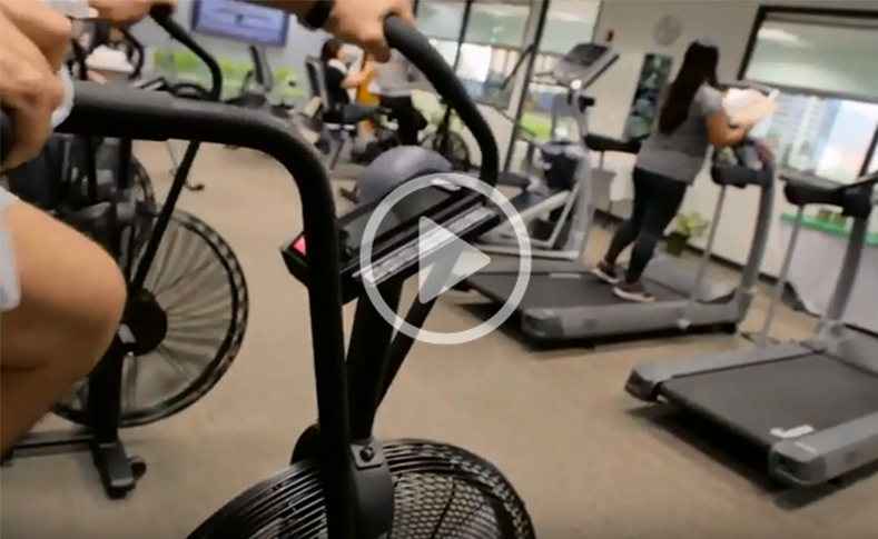 Gym with cardio equipment & workout machines