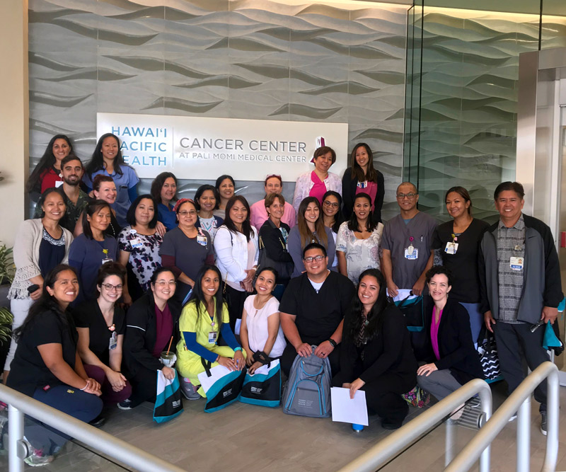 nurses from Pali Momi and Straub gather for annual competency training