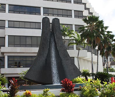Aina Lani fountain in front of Pali Momi Medical Center