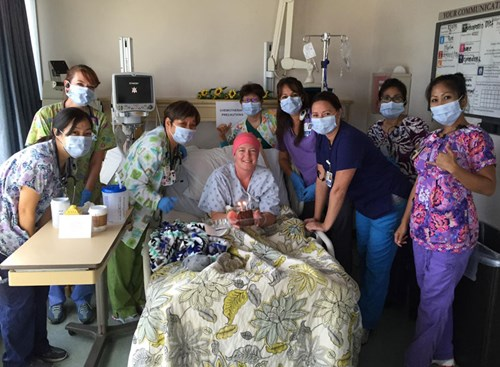 Casey says that the nurses at Pali Momi quickly became an extension of her family.